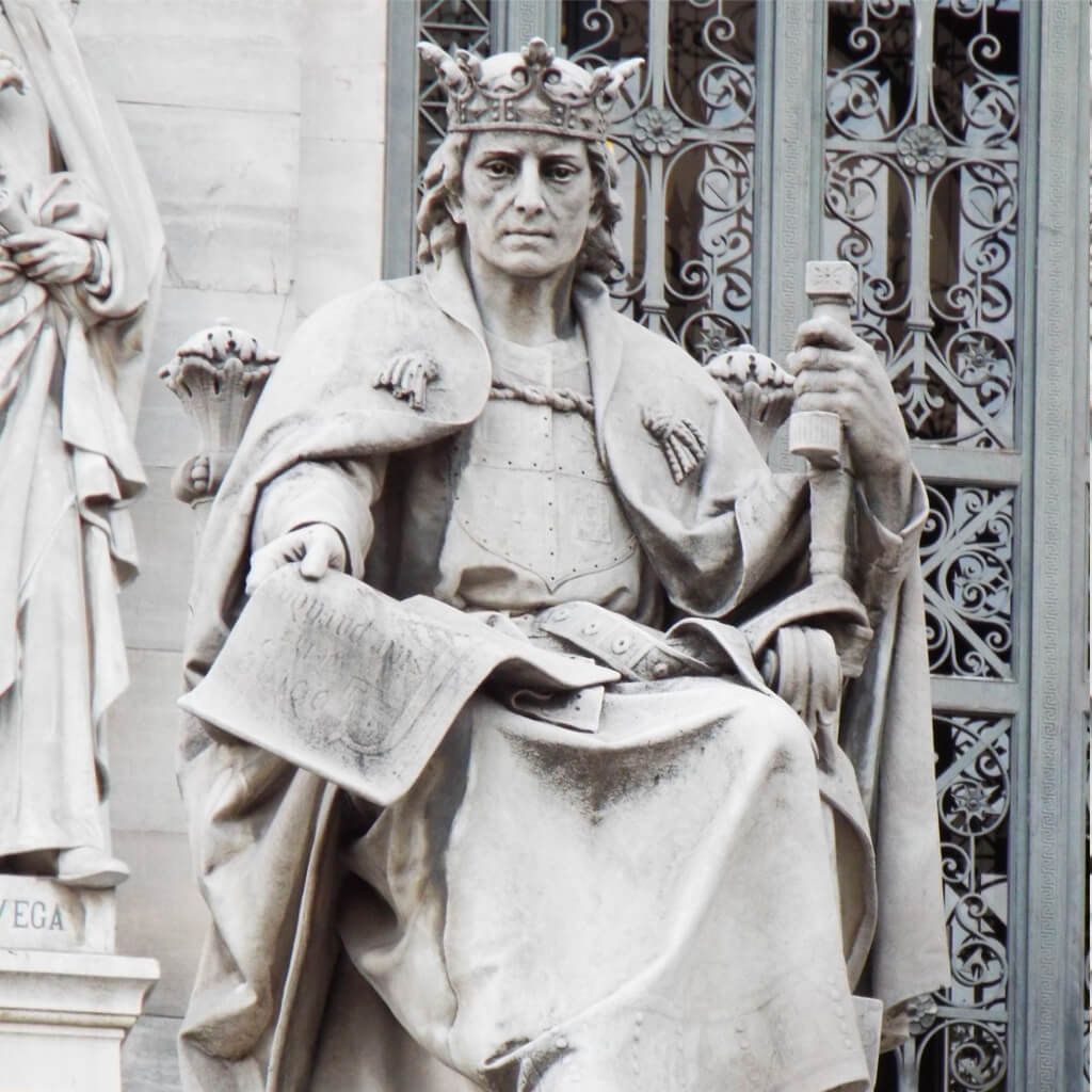 King Alfonso X of Castile, the Wise-square